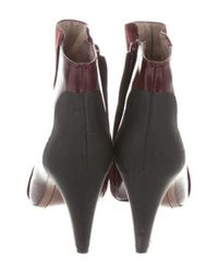 10 Crosby Derek Lam - Red Suede Pointed-toe Ankle Boots - Lyst