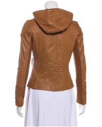 MICHAEL Michael Kors - Brown Michael Kors Leather Quilted Jacket Cognac - Lyst