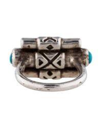 Pamela Love - Metallic Turquoise Ring Silver - Lyst