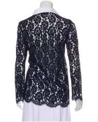 Sandro - Blue Guipure Lace Button-up Top - Lyst
