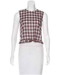 5212a184c159d Lyst - Jenni Kayne Plaid Sleeveless Top W  Tags in Red