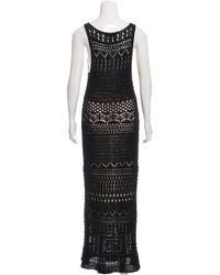 Emilio Pucci - Black Crocheted Maxi Dress - Lyst