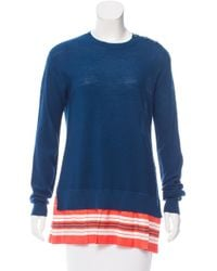 Louis Vuitton - Blue Wool And Silk Top - Lyst