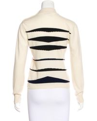 Chanel - Black Cashmere Intarsia Sweater - Lyst
