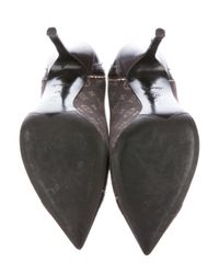 Louis Vuitton - Metallic Monogram Pointed-toe Pumps Brown - Lyst