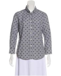 Band of Outsiders - Gray Printed Button-up Top Grey - Lyst