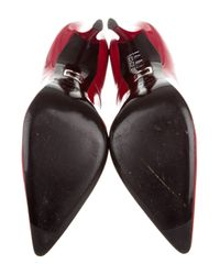 Roger Vivier - Red Patent Leather Pointed-toe Pumps - Lyst