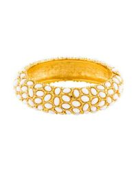 Kenneth Jay Lane - Metallic Cabochon Bracelet Gold - Lyst