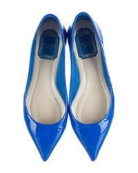 Dior   White Patent Leather Ballet Flats   Lyst