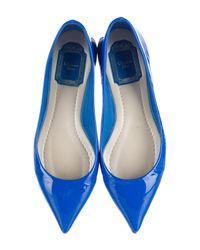 Dior - White Patent Leather Ballet Flats - Lyst