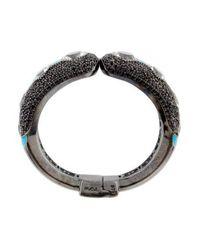 M.c.l  Matthew Campbell Laurenza - Metallic Colorless Topaz & Spinel Enamel Bracelet Silver - Lyst