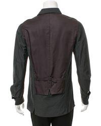Miharayasuhiro - Green Striped Button-up Shirt for Men - Lyst