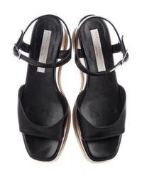 Stella McCartney - Black Elyse Flatform Sandals - Lyst