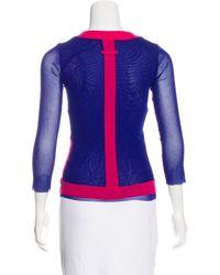 Jean Paul Gaultier - Blue Mesh Colorblock Top - Lyst
