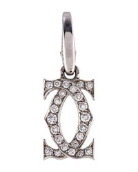 Cartier - Metallic Logo Charm White - Lyst