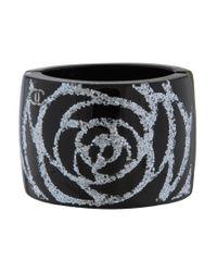 Chanel - Metallic Resin Bracelet Silver - Lyst