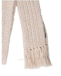 Marc Jacobs - Natural Wool Fringe-trimmed Scarf Beige - Lyst