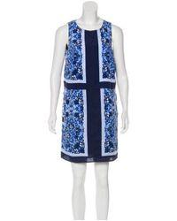 MICHAEL Michael Kors - Blue Michael Kors Printed Mini Dress - Lyst