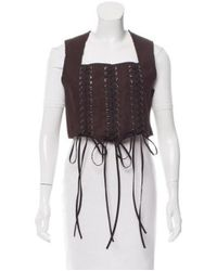 TOME - Multicolor Lace-up Vest W/ Tags - Lyst