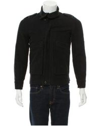 A.P.C. - Blue Felted Zip-front Jacket Navy for Men - Lyst