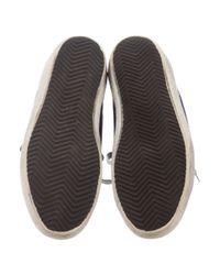 Golden Goose Deluxe Brand - Metallic Superstar Distressed Sneakers Blue for Men - Lyst