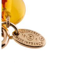 Chanel - Metallic Tiger's Eye Quartz, Citrine & Bead Strand Necklace Gold - Lyst