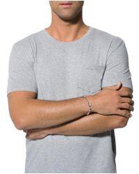 Bottega Veneta - Metallic Intrecciato Link Bracelet Silver for Men - Lyst