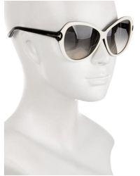 64ff7c55c1ab Lyst - Tom Ford Oversize Valentina Sunglasses in Black
