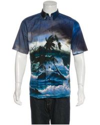 Givenchy - Blue 2017 Beach Print Shirt for Men - Lyst