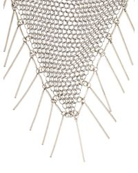 Isabel Marant - Metallic Mesh Bib Necklace Silver - Lyst