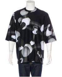 Christopher Kane - Gray Molecule Print Neoprene T-shirt W/ Tags Black for Men - Lyst