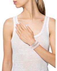 Givenchy - Metallic Two Row Shark Lock Bracelet Tan - Lyst