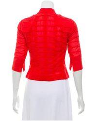Akris - Structured Patterned Blazer Orange - Lyst