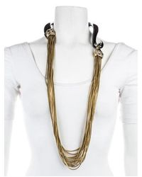 Alexis Bittar - Metallic Pyrite & Crystal Draping Collar Necklace Gold - Lyst