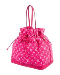 Louis Vuitton - Pink Monogram Denim Noefull Mm - Lyst