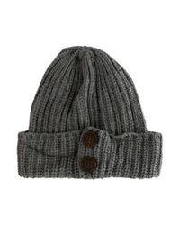 Ugg - Gray Rib Knit Beanie Grey - Lyst