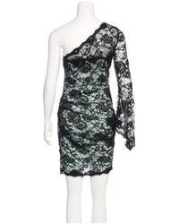Emilio Pucci - Black One-shoulder Lace Dress - Lyst