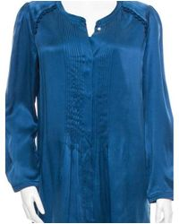 Étoile Isabel Marant - Blue Silk Dress W/ Tags - Lyst