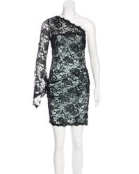 Emilio Pucci | Black One-shoulder Lace Dress | Lyst