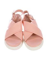 Robert Clergerie - Pink Paris Crossover Slingback Sandals - Lyst