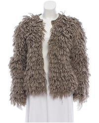 Michael Kors - Brown Fringe Knit Jacket - Lyst