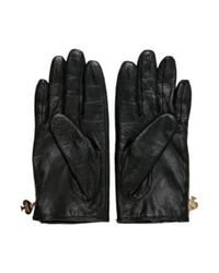 Kate Spade - Black Quilted Leather Gloves - Lyst