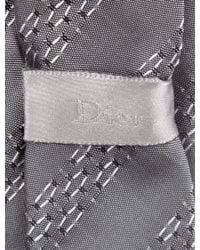 Dior - Gray Homme Silk Striped Tie Grey for Men - Lyst