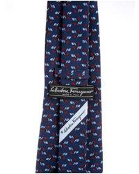 Ferragamo - Red Snail Print Silk Tie for Men - Lyst