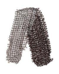 Marc Jacobs - Black Open Knit Embellished Scarf - Lyst