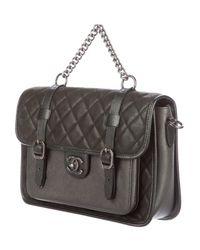 Chanel - Gray Paris-bombay Back To School Messenger Bag Black - Lyst