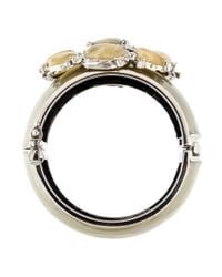 Chanel | Metallic Cc Wide Bangle Bracelet | Lyst
