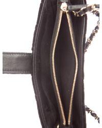 Chanel - Metallic 2015 Quilted Velvet Phone Bag Black - Lyst