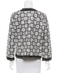 Chanel - Black Embellished Raw-edge Jacket W/ Tags - Lyst