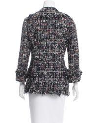 Chanel - Metallic Embellished Tweed Jacket Indigo - Lyst